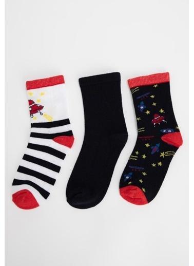 DeFacto 3'lü Çorap Lacivert